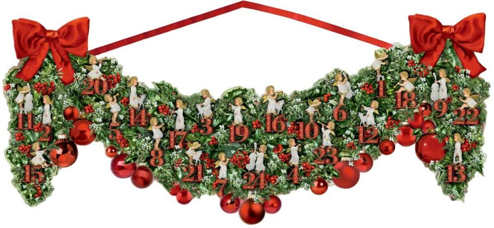 Large Victorian Christmas Garland Advent Calendar - 70cm x 27cm