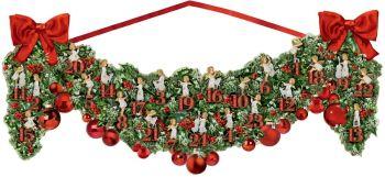 Large Victorian Christmas Garland Advent Calendar - 70cm x 27cm