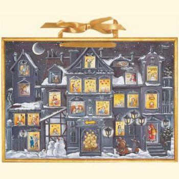 Large Victorian Christmas House Advent Calendar - 52cm x 38cm