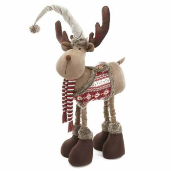 Extra Large Fun Standing Christmas Moose - approx. 1.6m Tall