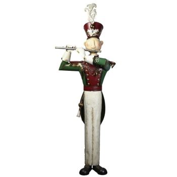 Amazing Extra Large Metal Soldier with his Flute - 1820mm tall