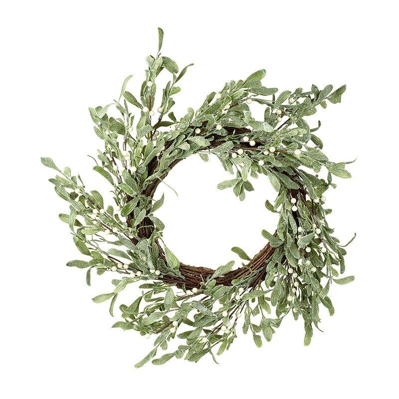Beautiful Mistletoe Door or Wall Wreath - 51cm Diameter