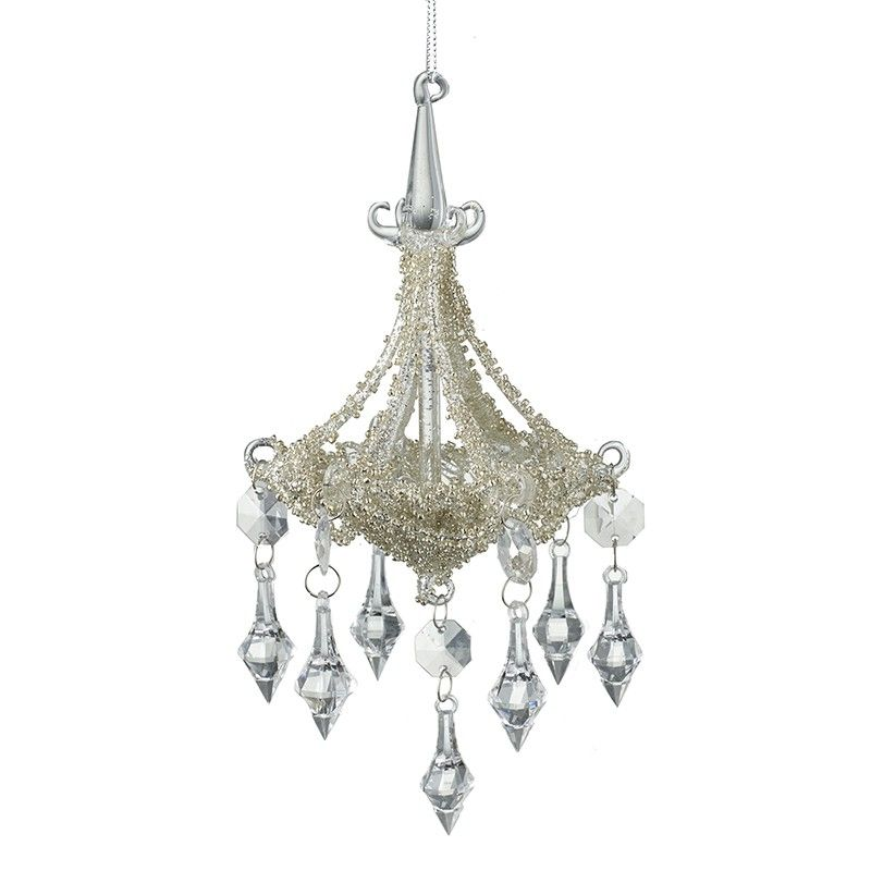Stunning Large Champagne Gold Glass Chandelier Bauble.