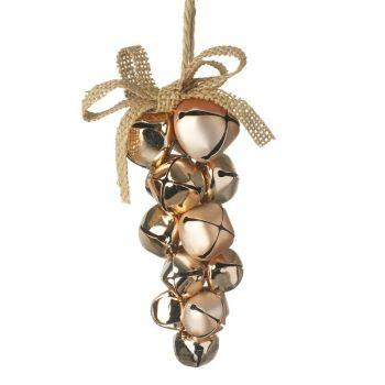 Champagne Gold Hanging Bells - 12cm