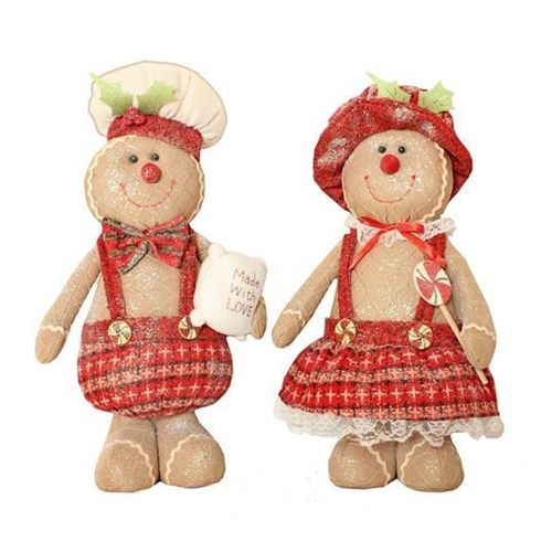 Lovely Medium Gingerbread Lady - 44cm tall x 27cm wide x 15cm deep