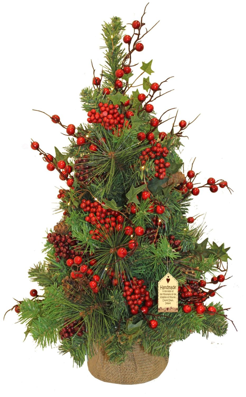Beautiful Handmade Light Up Mini Christmas Tree - Approx. 64cm tall x 44cm