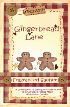 Gingerbread Lane Fragranced Sachet.
