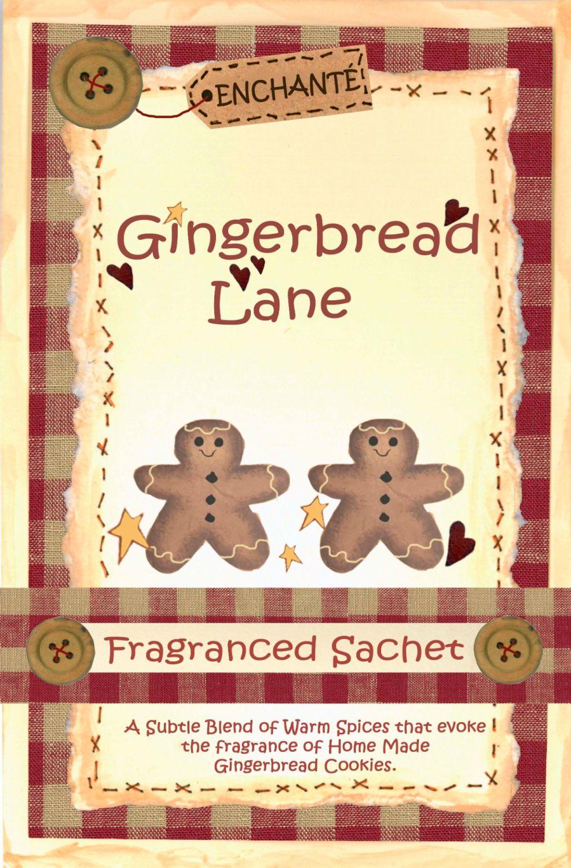 Gingerbread Lane Fragranced Sachet.