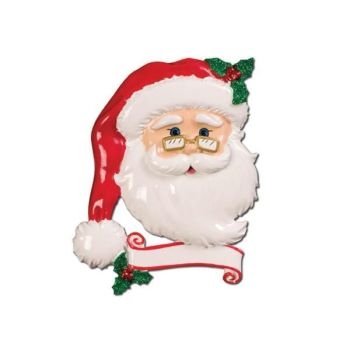 Ceramic Jolly Santa, Personalise for yourself or a loved one at no extra cost or leave blank.
