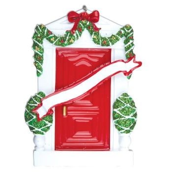 Ceramic Festive Christmas Door