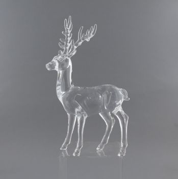 A Stunning Clear acrylic Deer for your Christmas display - 23cm