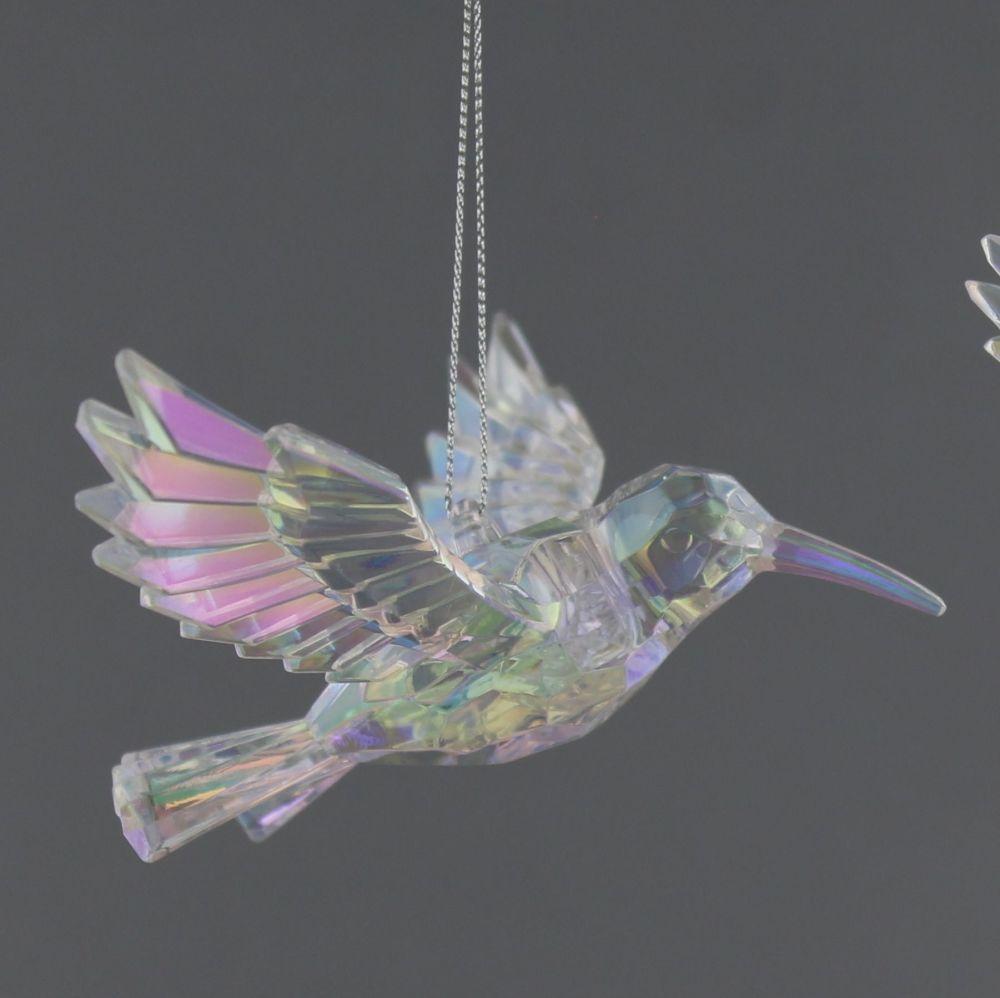 Clear Hummingbird in Flight - 13cm