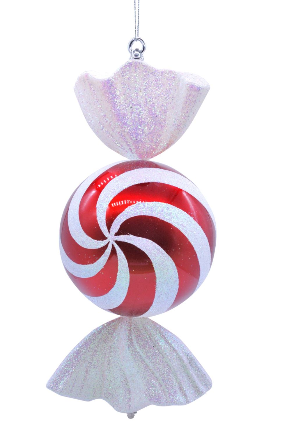 Large Red & White Sweet Candy Cane Ball - 50cm