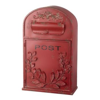 American Style Red Post Mail Box - 500mm x 310mm x 140mm