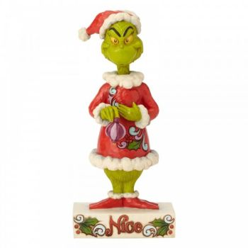 Two Sided Naughty or Nice Grinch - 23cm H x 9.5 W x 10.5 Deep