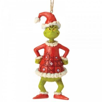 The Grinch Dressed as Santa Hanging Ornament - 13cm tall x 4.5 wide x 5 deep