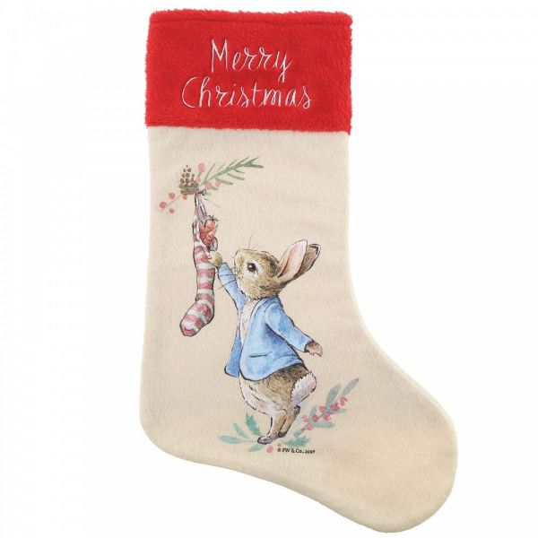 Peter Rabbit Christmas Stocking - 46cm tall x 29.5 wide.