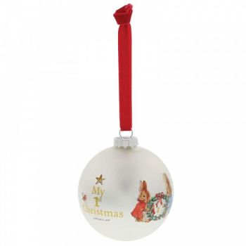 Peter Rabbit Baby's First Christmas - My First Christmas. 8cm diameter.