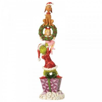 Stacked Grinch Characters Figurine - 34cm H x 8.5 W x 9.5 Deep