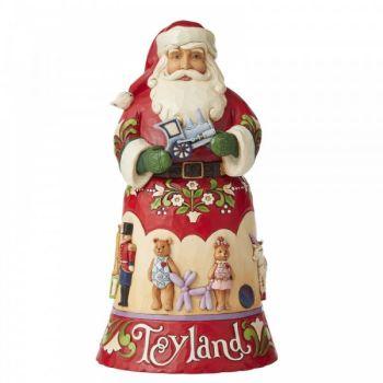 Santa Toyland Figurine by Jim Shore's Heartwood Creek - 25.5cm tall x 14 wide x 14 deep.
