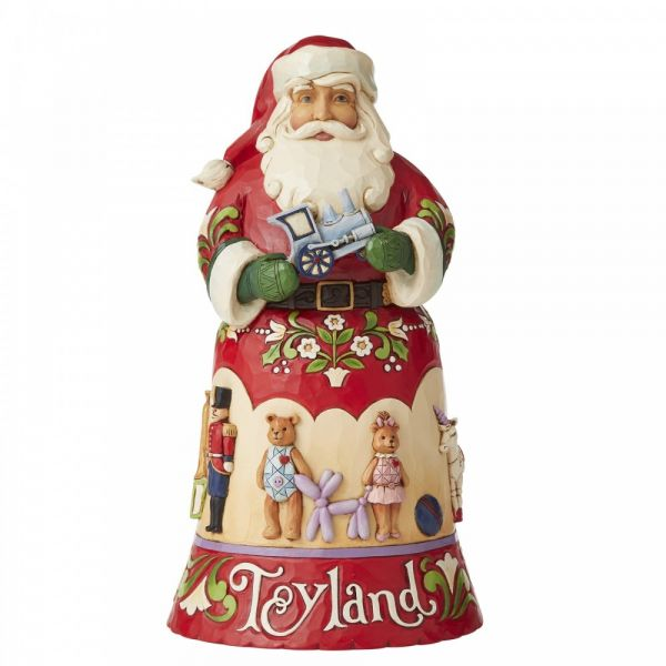 Santa Toyland Figurine by Jim Shore's Heartwood Creek - 25.5cm tall x 14 wi