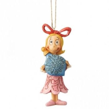 Cindy Lou from The Grinch Hanging Ornament by Jim Shore - 11.5cm tall x 4 wide x 4.5 deep.