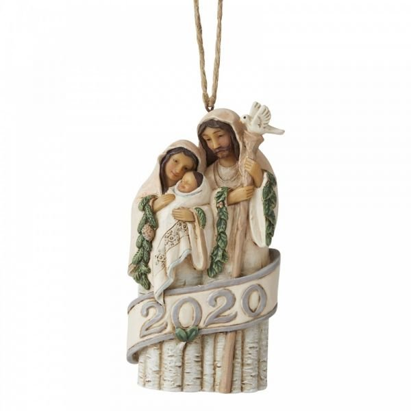 Nativity Holy Family 2020 hanging ornament by Jim Shore - 11.5cm tall x 6 w