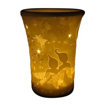 Beautiful Night Fairies Oil Burner by Welink Light Glow - 13cm tall x 10cm dia top x 7cm dia base.
