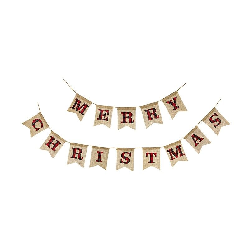 Hessian Merry Christmas Garland 2.1m long