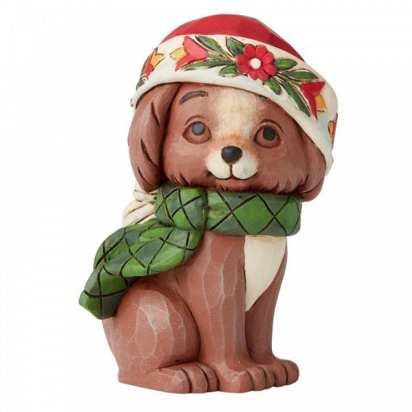 Christmas Puppy figurine by Jim Shore - 9cm tall x 5 wide x 5 deep.