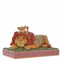 'A Fathers Pride' Simba & Mufasa Figurine by Jim Shore - 11cm H x 19.5 W x 10 Deep