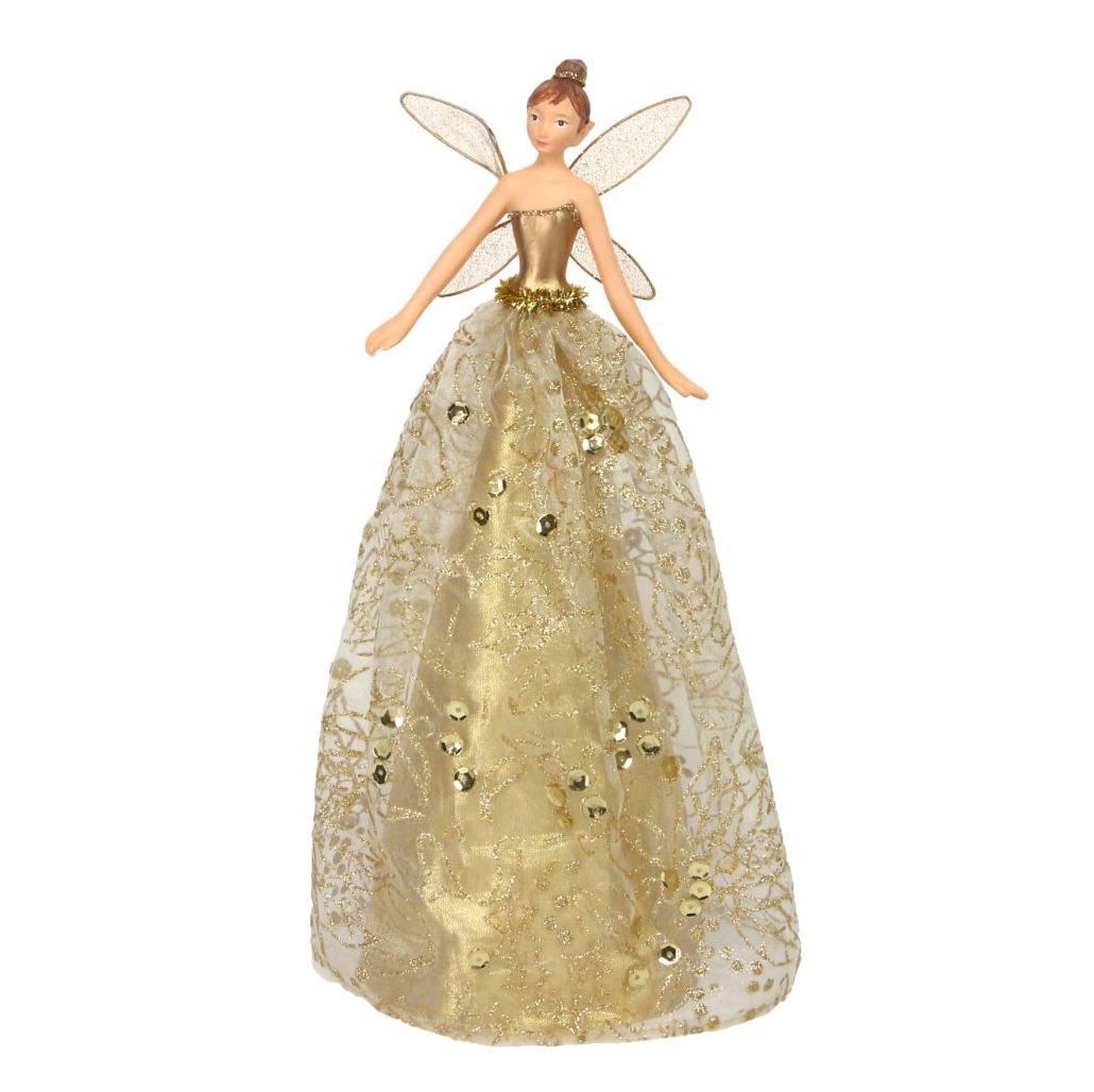 Large Gold Tree Top Fairy - 28cm