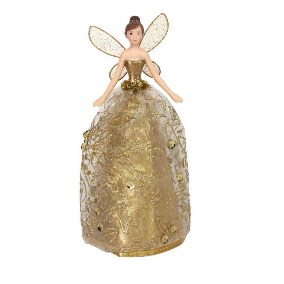 Gold Tree Top Fairy - 18cm