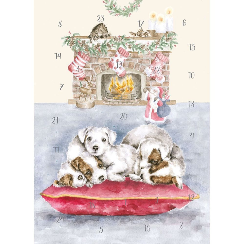 'All I Want For Christmas' Puppy Dog Advent Calendar by Wrendale - 210mm x