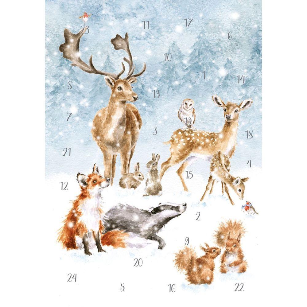 'Winter Wonderland' Christmas Woodland Animal scene Advent Calendar by Wren