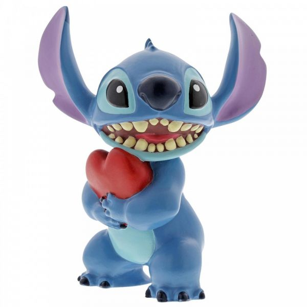Stitch Heart Figurine - 6cm h x 6cm d x 9cm wide