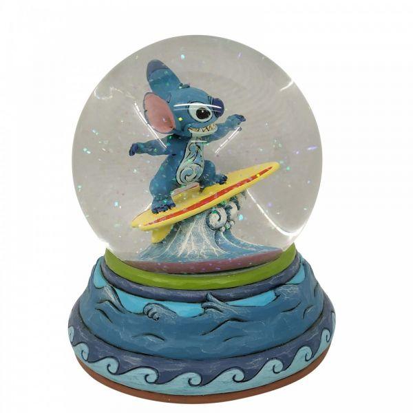 Surfing Stitch Snow Globe - 13cm diameter