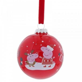 Peppa Pig Christmas Bauble - 8cm