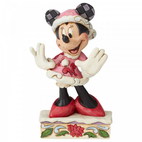 Minnie Mouse 'Festive Fashionista' - 12cm h x 4cm w x 7cm d