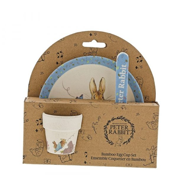 Peter Rabbit Babies Dinner Set - Plate, Cup & Spoon - Made from Bamboo.