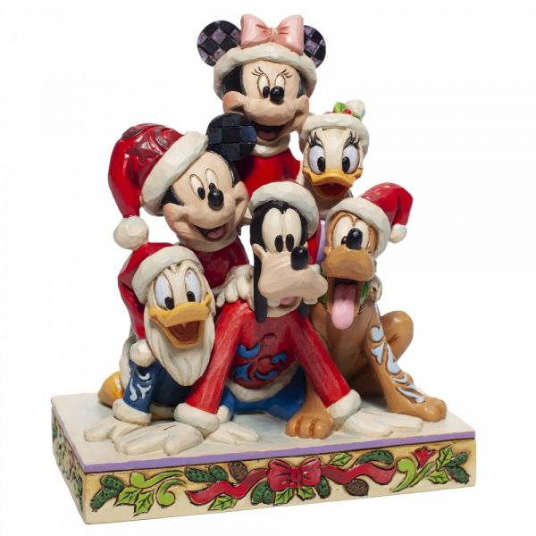 'Piled High with Christmas Cheer' Mickey Mouse & Friends. Pluto, Minnie Mou