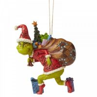 The Grinch Tiptoeing Hanging Ornament - 11.5cm h x 4cm w x 9cm deep