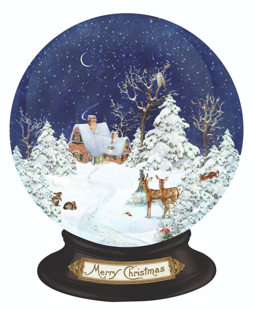 Winter Forest Snow Globe
