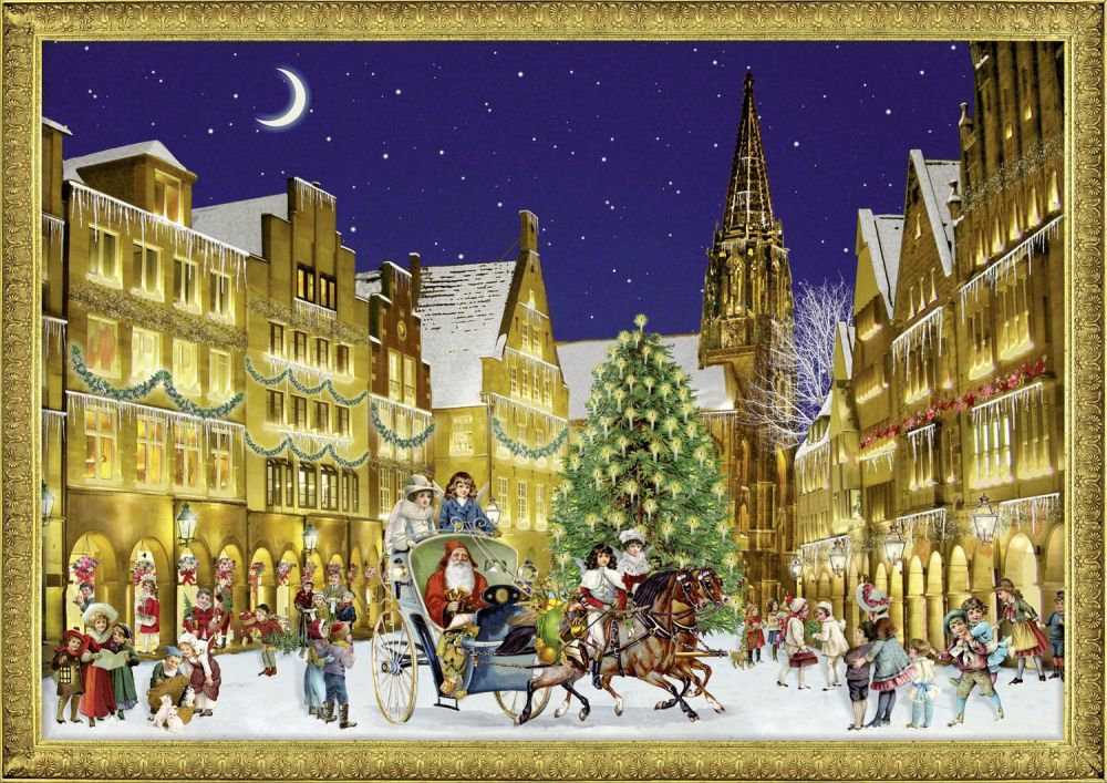 German Town at Christmas - A4  Advent Calendar