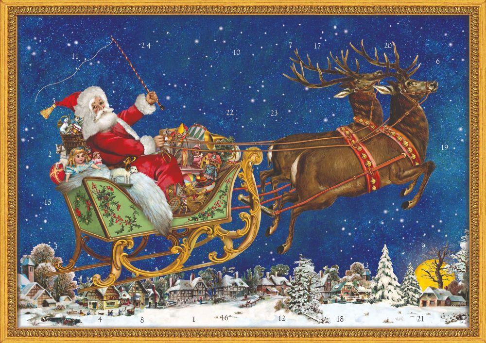 Victorian Christmas Sleigh  - A4  Advent Calendar