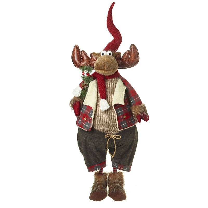 Very Smart Extra Large Googly Eyed Standing Christmas Moose - approx. 1.3m