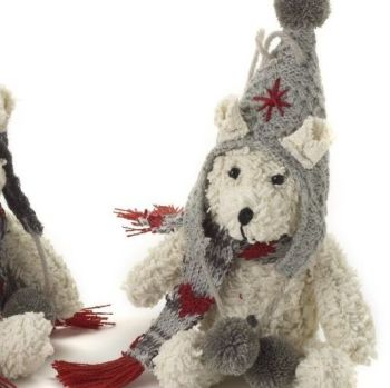 Christmas Bear hanging ornament - 19cm x 8cm x 11cm