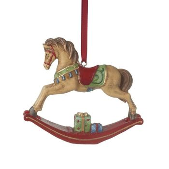 Rocking Horse Bauble - 10.5 long x 2.5 wide x 8.5cm tall