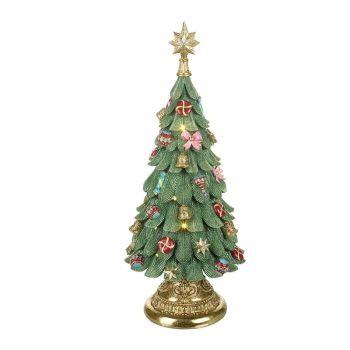 Large Light up Christmas Tree Music Box - 60cm tall x 25.5cm diameter.