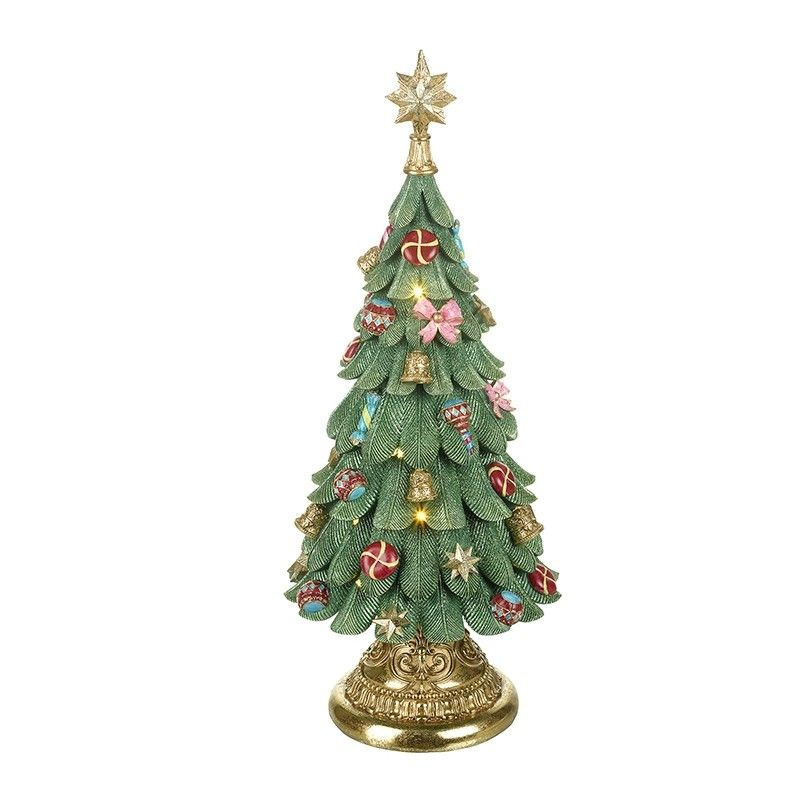 Large Light up Christmas Tree Music Box - 60cm tall x 25.5cm diameter.